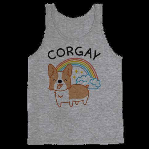 Corgay Gay Corgi Tank Top