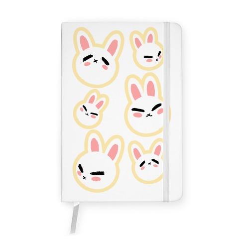 BunBun Pattern Yellow Notebook