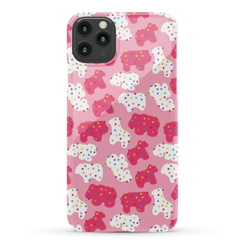 Frosted Animal Cracker Pattern Phone Case