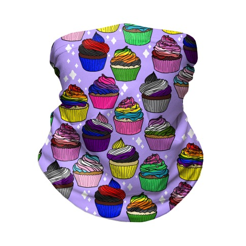LGBTQ+ Cartoon Cupcakes Neck Gaiter