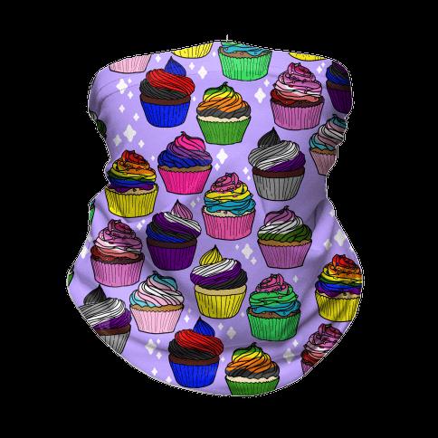 LGBTQ+ Cartoon Cupcakes Neck Gaiter