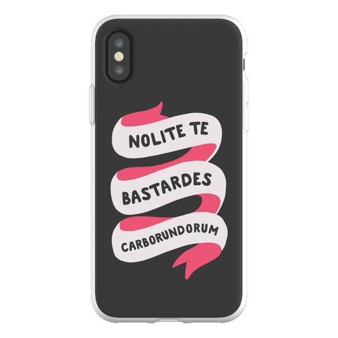 Nolite Te Bastardes Carborundorum Banner Phone Flexi-Case