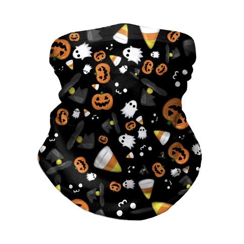 Spoopy Halloween Pattern Neck Gaiter