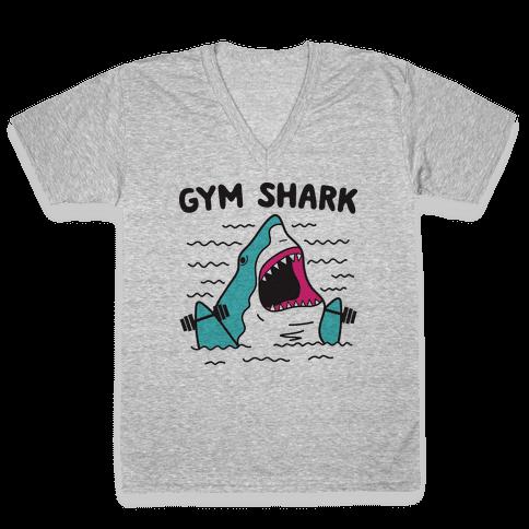 Gym Shark V-Neck Tee Shirt