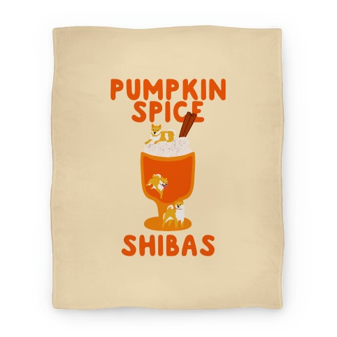 Pumpkin Spice Shibas Blanket
