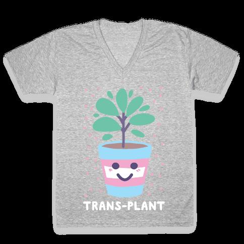 Trans Plant V-Neck Tee Shirt
