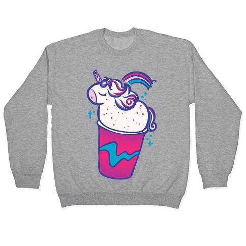 Unicorn Frapp White Print Pullover