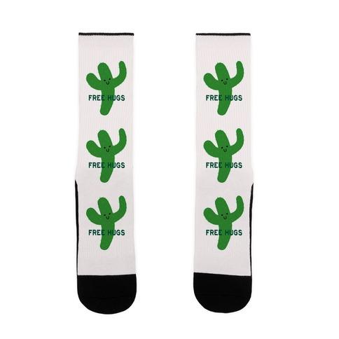 Free Hugs Cactus Sock