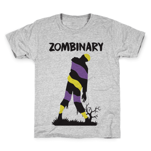 Zombinary Nonbinary Zombie Kids T-Shirt