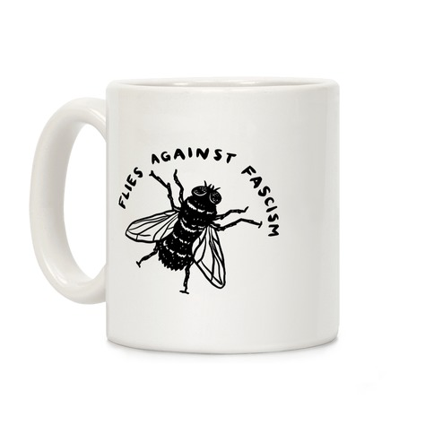 Flies Against Fascism Coffee Mug