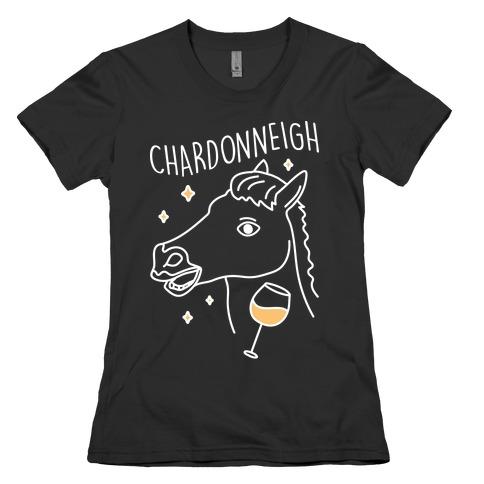 Chardonneigh Wine Horse Womens T-Shirt