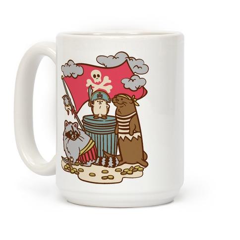 Captain Hedgie's Salty Crew White Print Coffee Mug