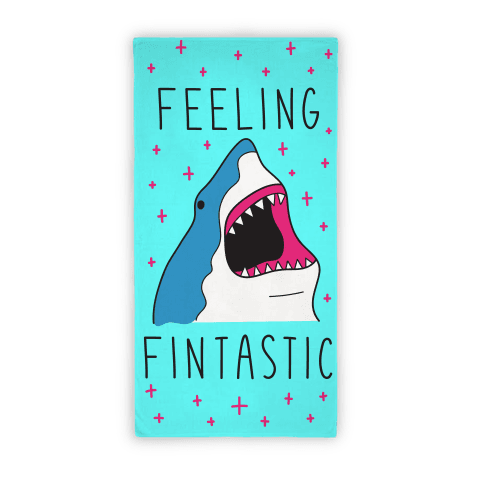 Feeling Fintastic (Towel) Beach Towel