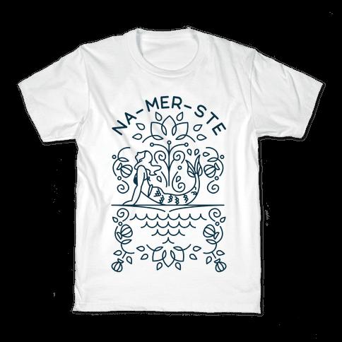 Na-Mer-Ste Mermaid Yoga Kids T-Shirt
