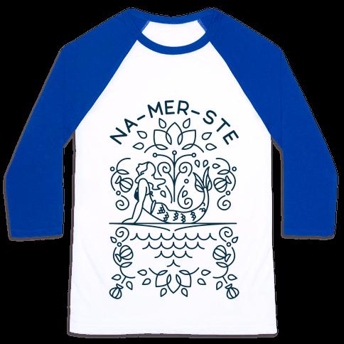 Na-Mer-Ste Mermaid Yoga Baseball Tee