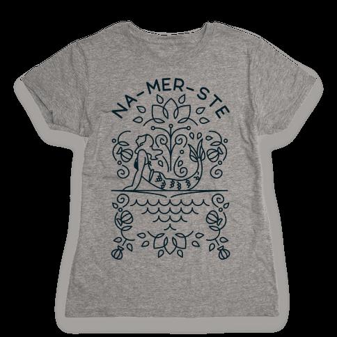 Na-Mer-Ste Mermaid Yoga Womens T-Shirt