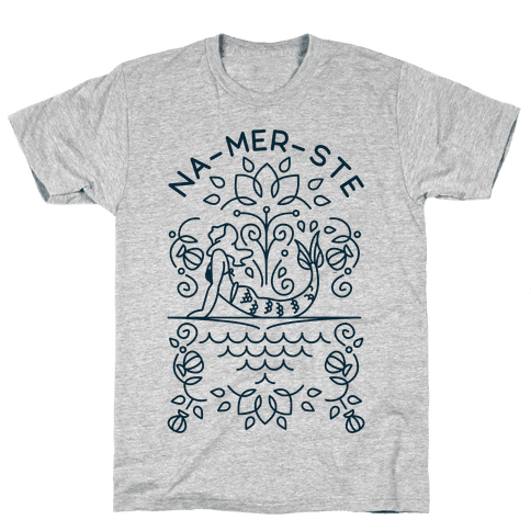 Na-Mer-Ste Mermaid Yoga Mens T-Shirt