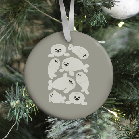 Baby Seals Pattern Study Ornament