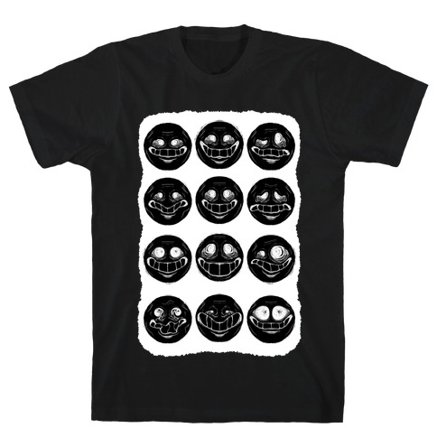 Ominous Faces Inverted T-Shirt