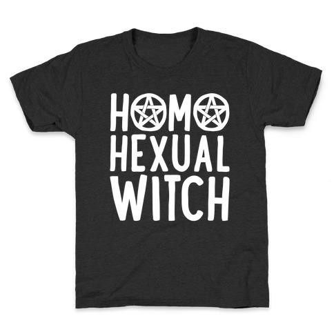 Homohexual Witch White Print Kids T-Shirt