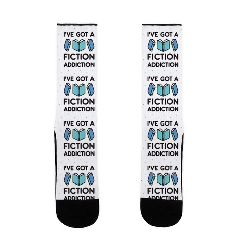 I've Got A Fiction Addiction Sock