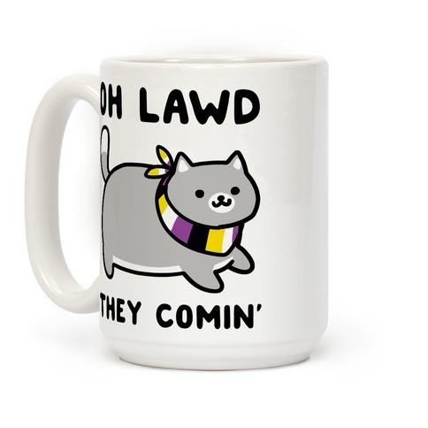 Oh Lawd, They Comin' - Non-Binary Coffee Mug