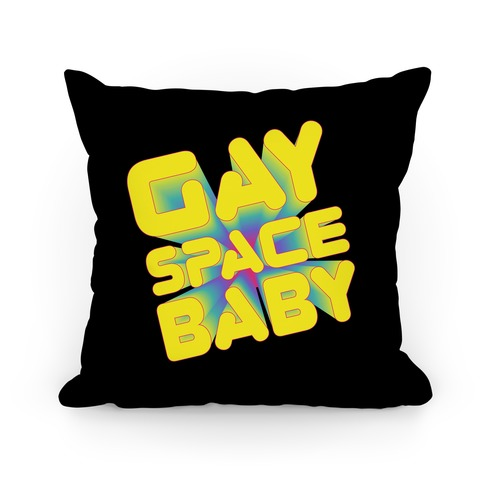 Gay Space Baby Pillow