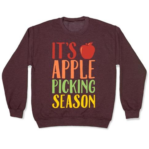 It's Apple Picking Season White Print Pullover