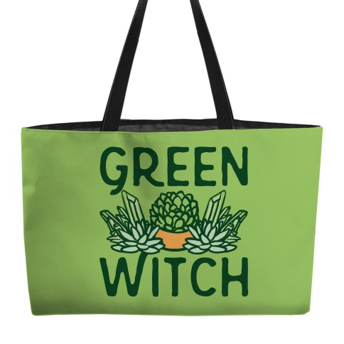 Green Witch Weekender Tote