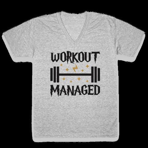 Workout Managed V-Neck Tee Shirt