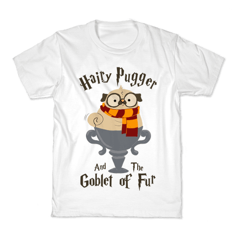 Hairy Pugger and the Goblet of Fur Kids T-Shirt