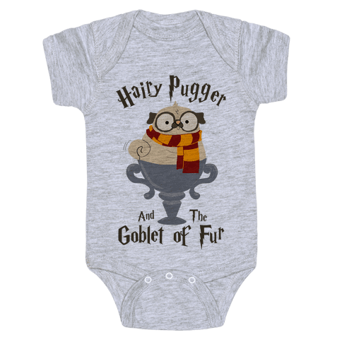 Hairy Pugger and the Goblet of Fur Baby Onesy