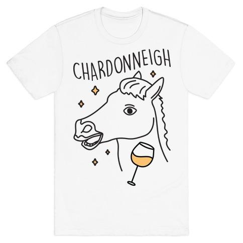 Chardonneigh Wine Horse T-Shirt