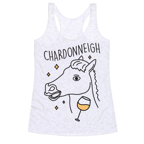 Chardonneigh Wine Horse Racerback Tank Top