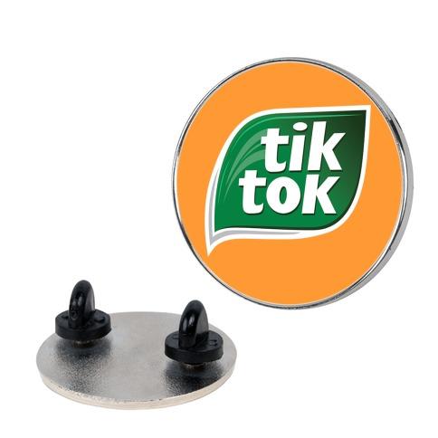 TikTok Tic Tac Parody Logo Pin
