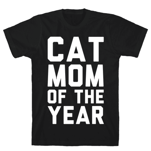 Cat Mom Of The Year Mens T-Shirt