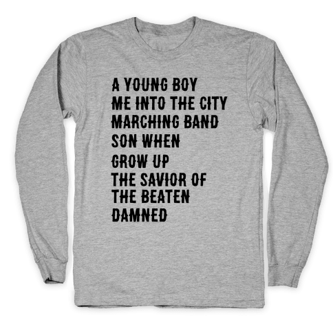 When I Was a Young Boy (2 of 2 pair) Long Sleeve T-Shirt
