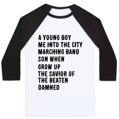 When I Was a Young Boy (1 of 2 pair) Baseball Tee