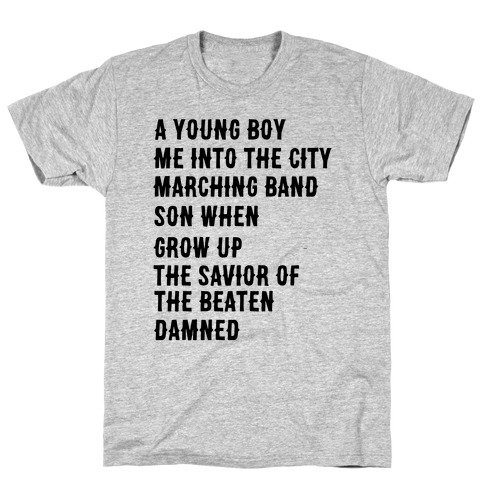 When I Was a Young Boy (2 of 2 pair) T-Shirt