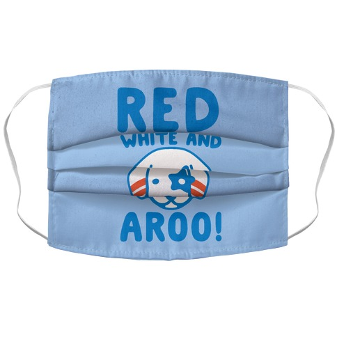 Red White and Aroo Accordion Face Mask