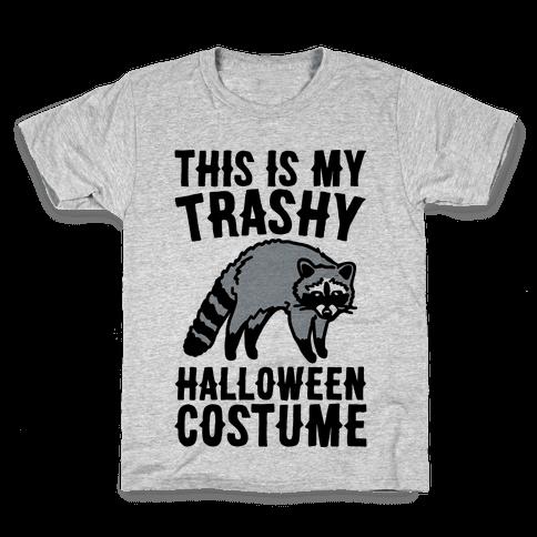 This Is My Trashy Halloween Costume Raccoon Kids T-Shirt