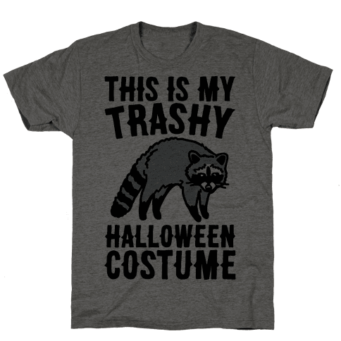 This Is My Trashy Halloween Costume Raccoon Mens T-Shirt