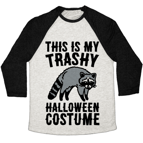 This Is My Trashy Halloween Costume Raccoon Baseball Tee