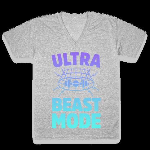 Ultra Beast Mode V-Neck Tee Shirt