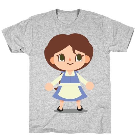 Princess Crossing Belle Parody Blue T-Shirt