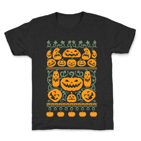 Ugly Pumpkin Sweater Kids T-Shirt