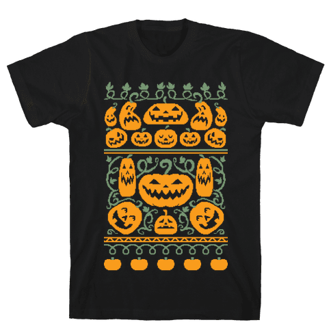 Ugly Pumpkin Sweater Mens T-Shirt