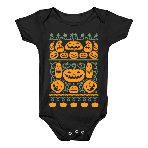 Ugly Pumpkin Sweater Baby Onesy