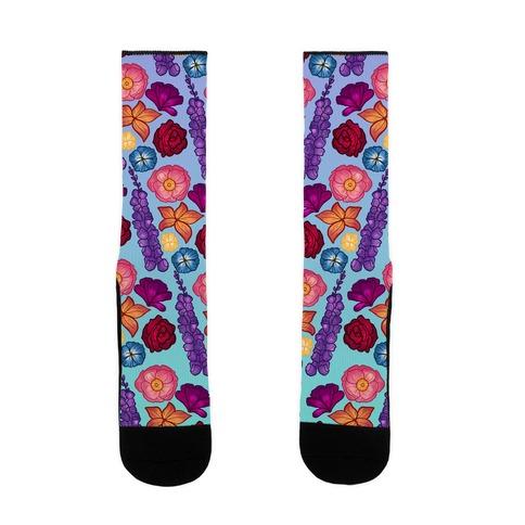 Flowery Pattern Sock