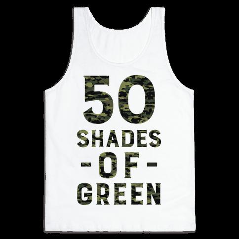 50 Shades of Green Tank Top